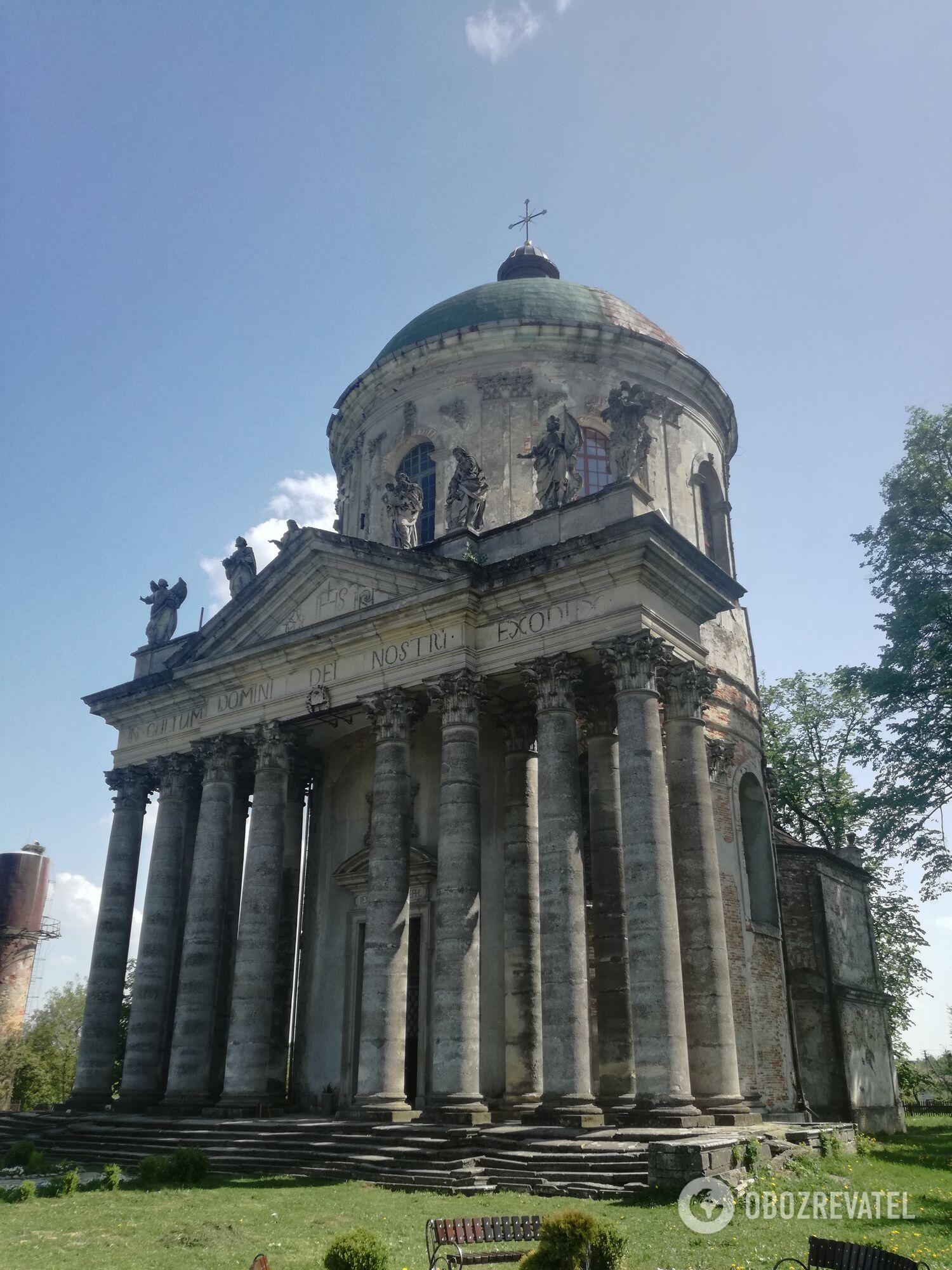 Костел біля Підгорецького палацу