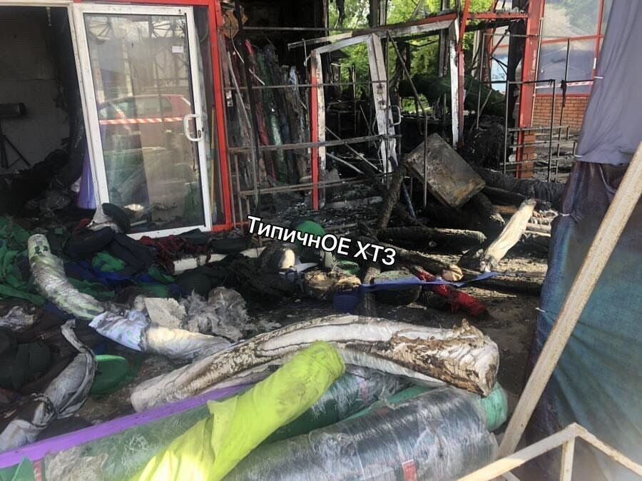 Пожар на Барабашово в Харькове