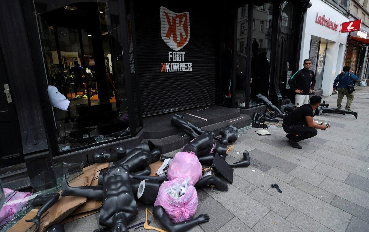 Протесты в Брюсселе
