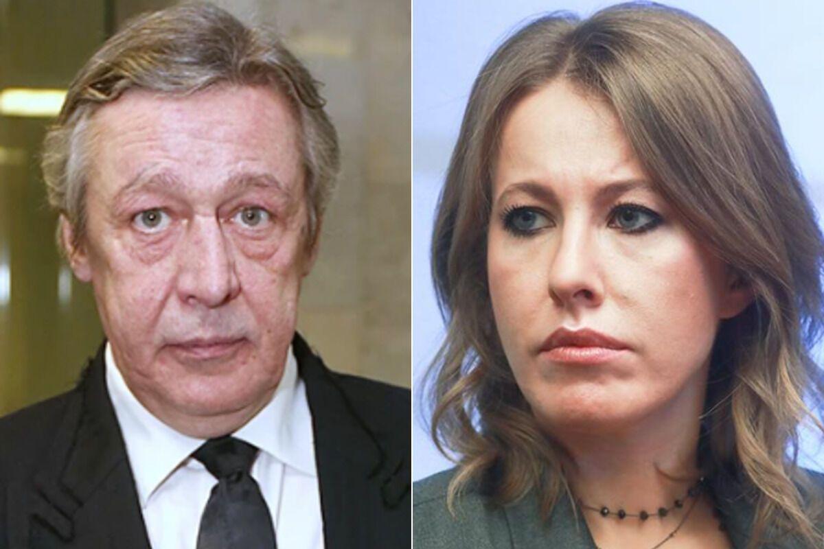 Михайло Єфремов і Ксенія Собчак