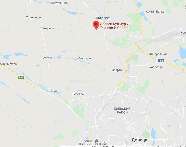 Инцидент произошел в районе Дворца культуры Авдеевского коксохимического завода
