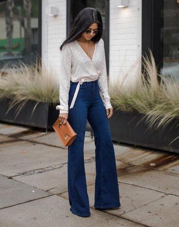 Как носить брюки-клеш в 2020 году