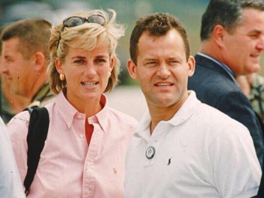 Принцесса Диана и Пол Баррел (источник – thesun.co.uk)