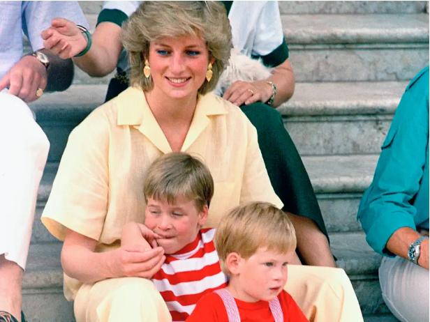 Принцесса Диана с сыновьями Уильямом и Гарри (источник – insider.com)