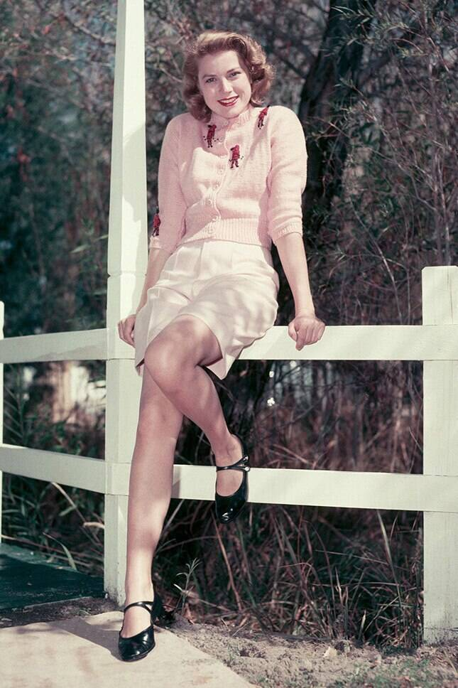 Грейс Келли в шортах-бермудах (фото – fashion-likes.ru)