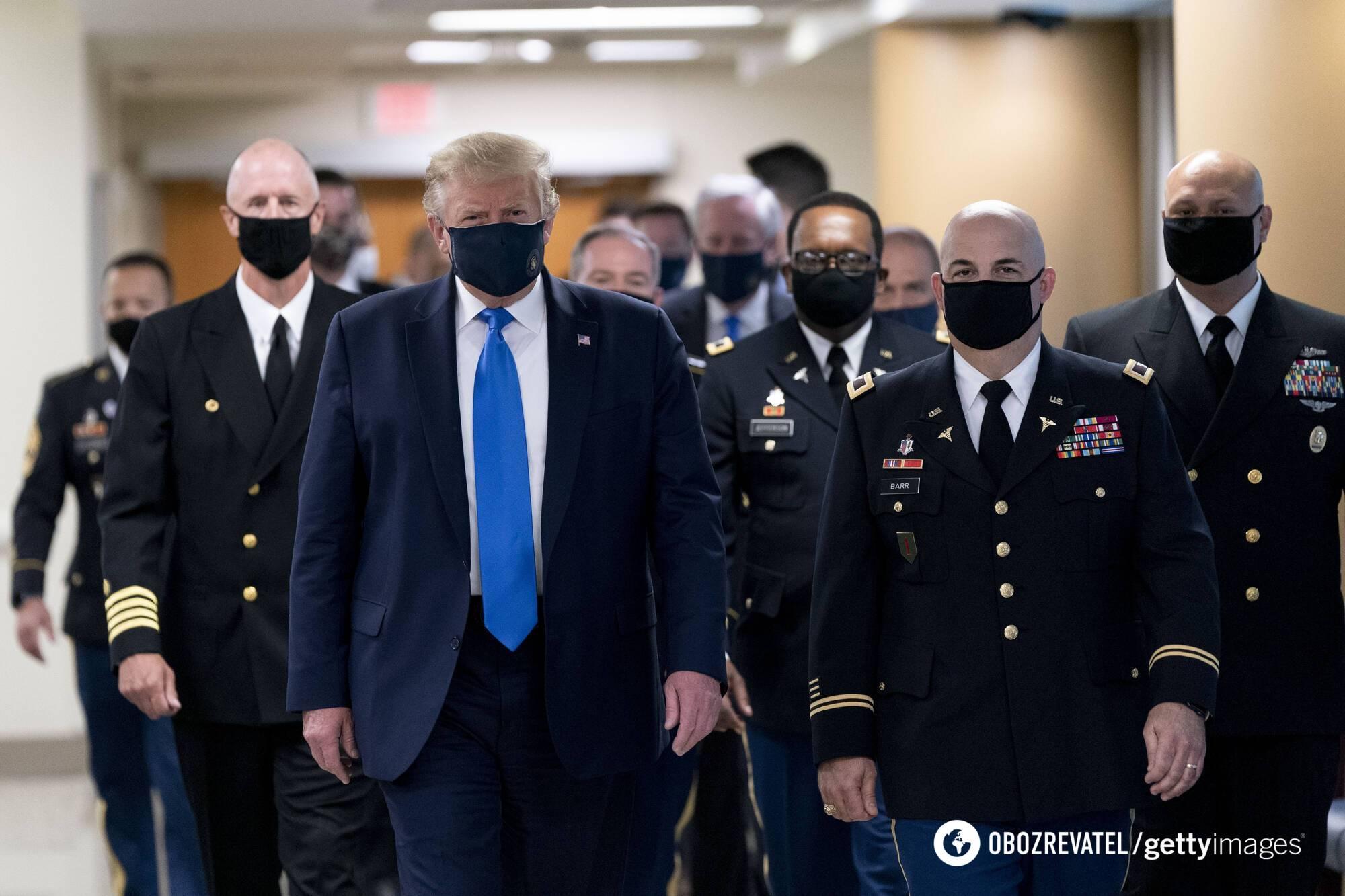 Дональд Трамп в военном госпитале Walter Reed