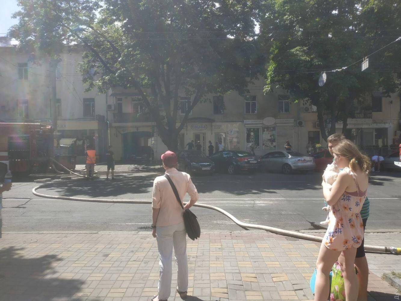 Место ЧП в центре Одессы