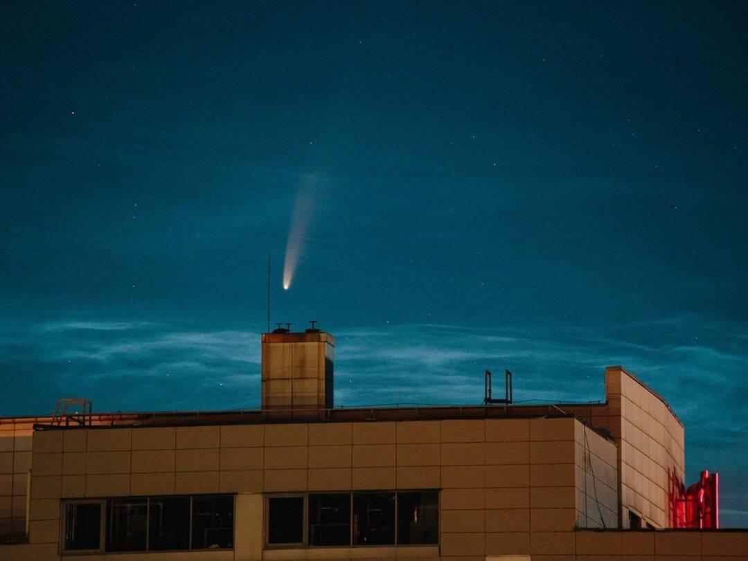 Комета C/2020 F3 над Харковом