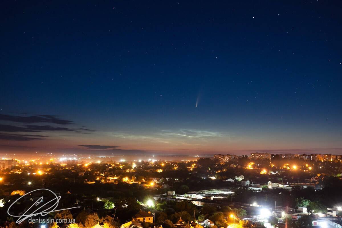 Комета C/2020 F3 над Миколаєвом