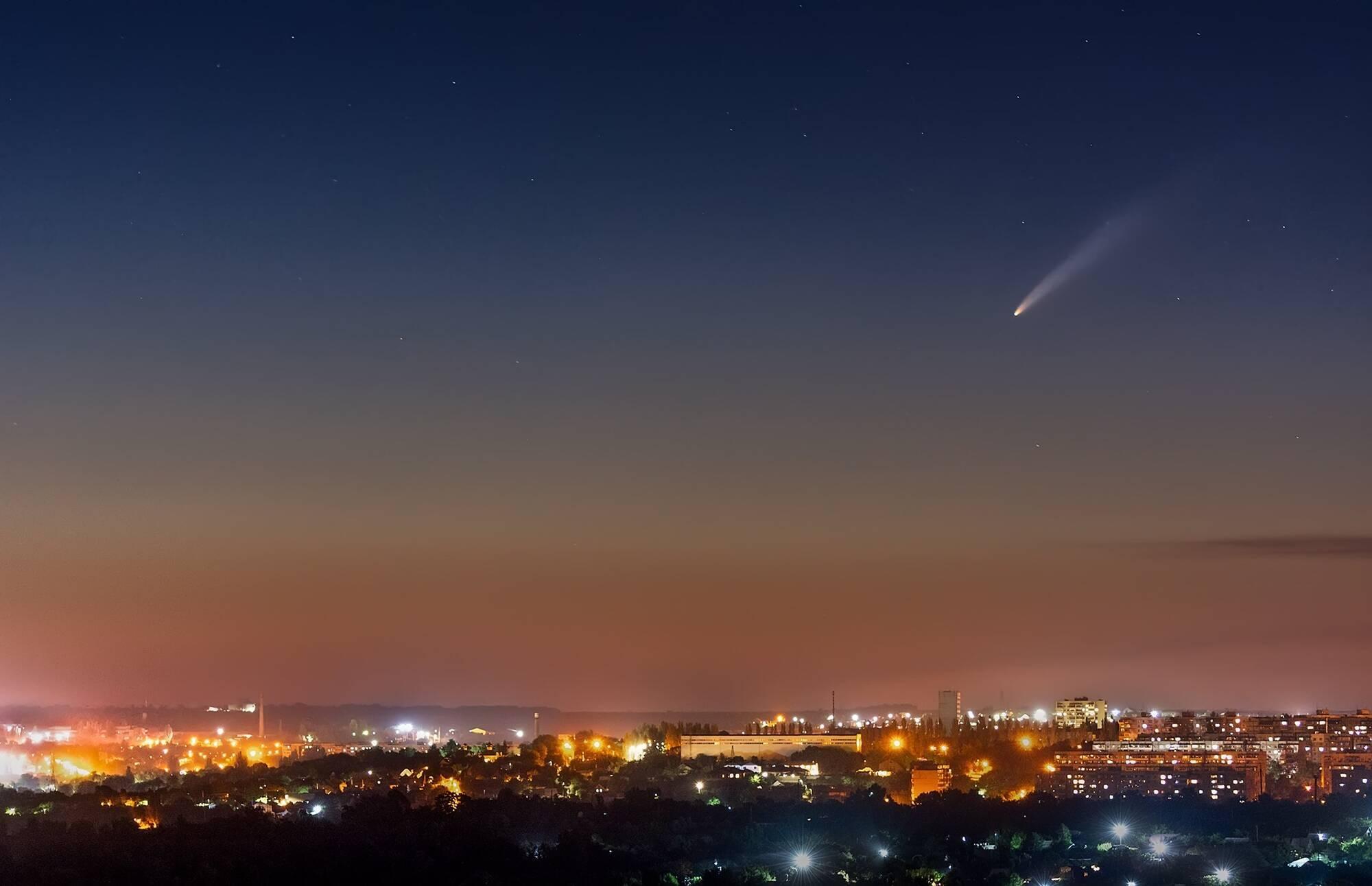 Комета C/2020 F3 над Запоріжжям