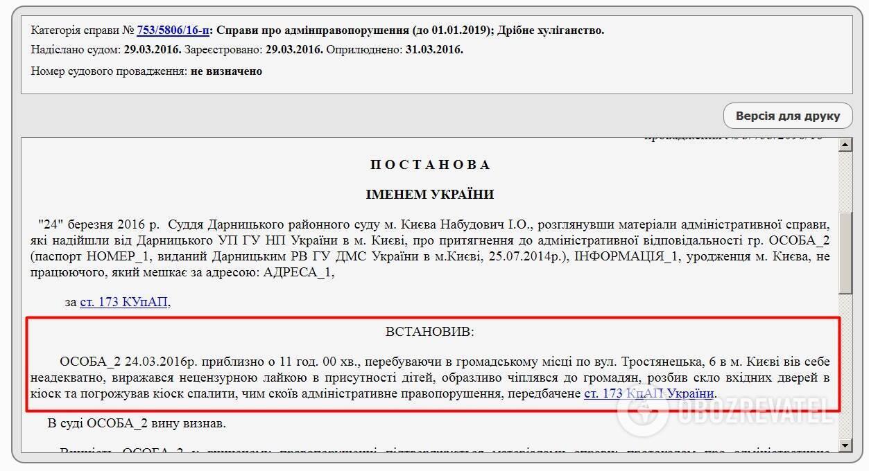 Антон Желепа притягувався до адмінвідповідальності