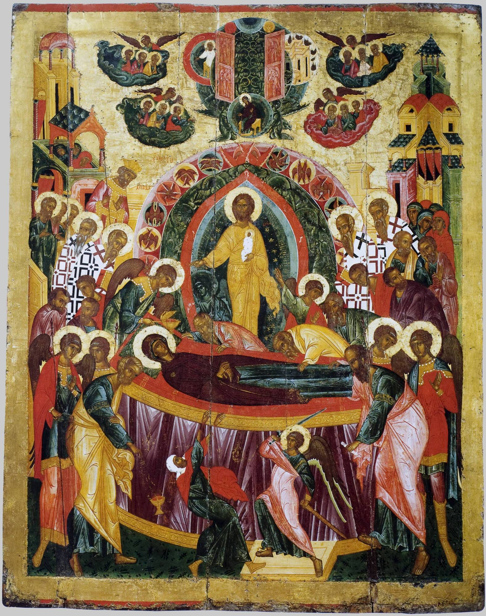 Успение Пресвятой Богородицы, икона, XVI век