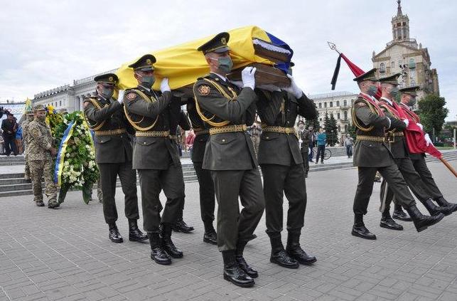 Церемонія прощання на Майдані Незалежності