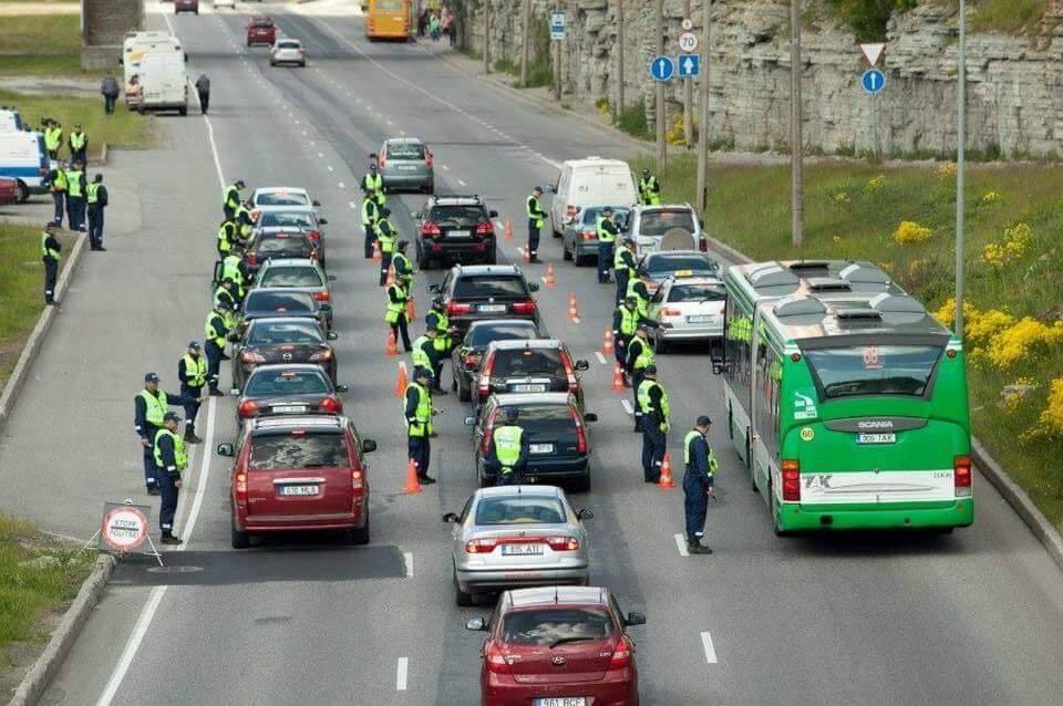 Рейд на виявлення п'яних водіїв у Естонії