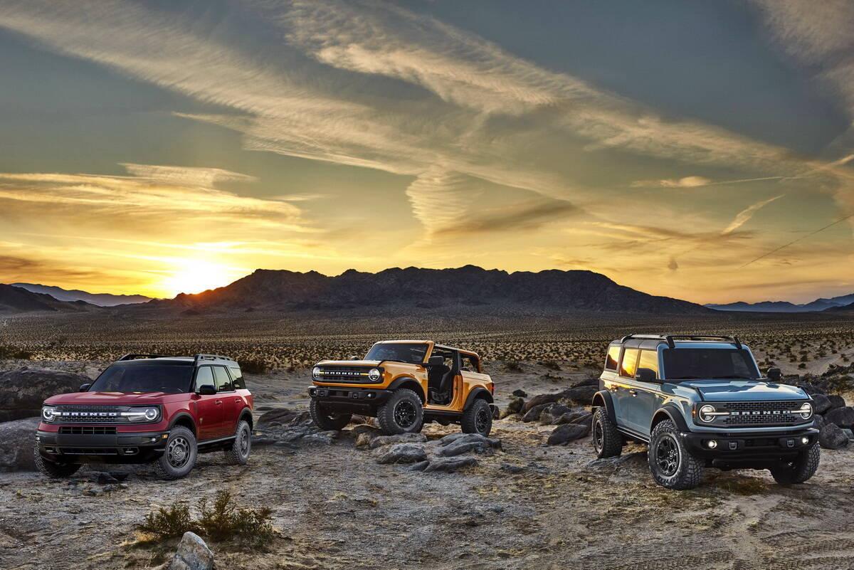 Сімейство Ford Bronco нової генерації. фото: