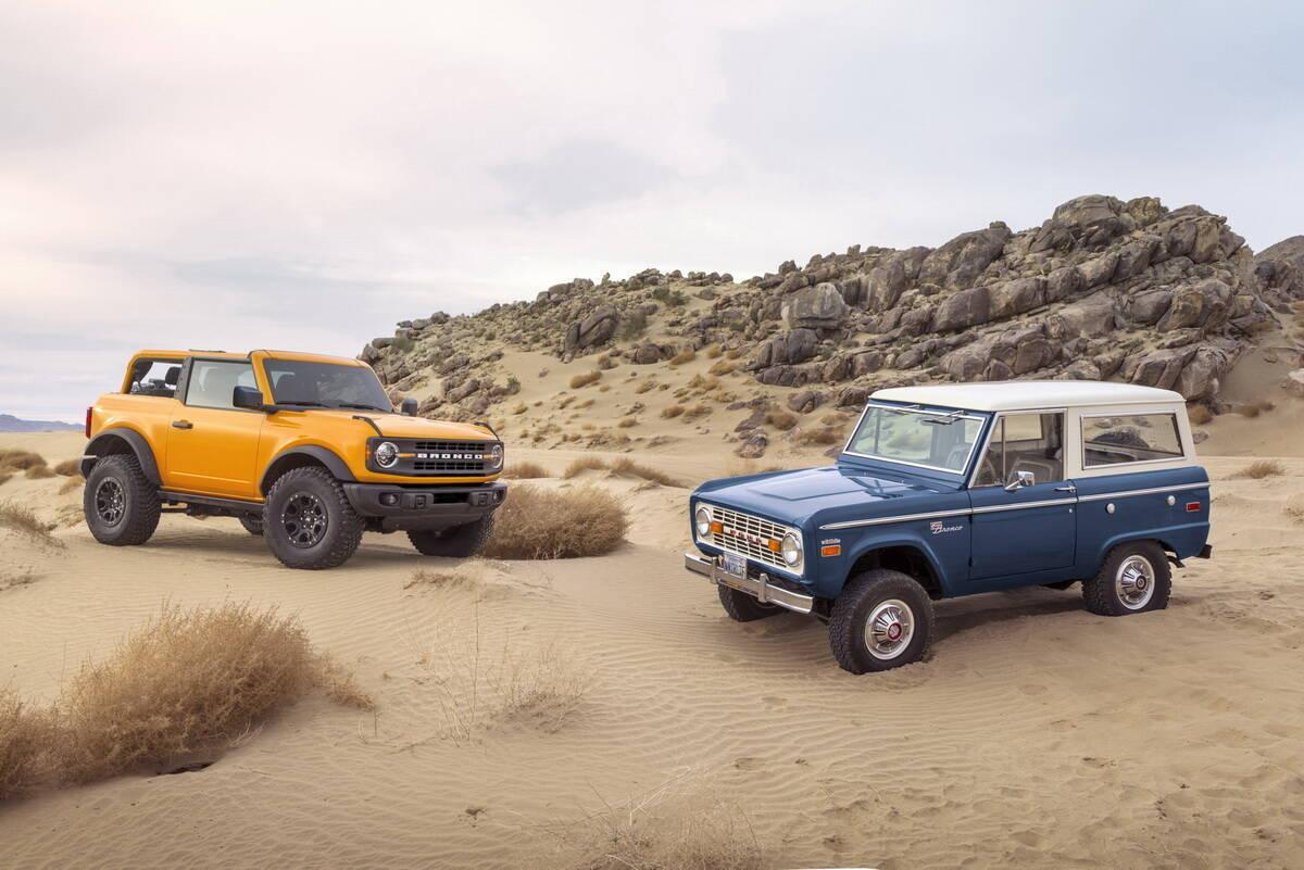 Ford Bronco шостого та першого покоління. фото: