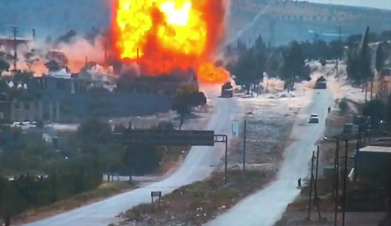 Подрыв колонны ВС РФ и Турции в Сирии