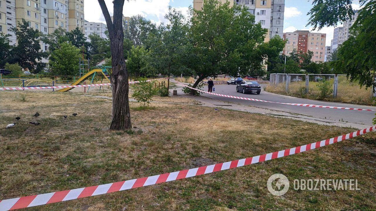 Місце злочину на вул. Йорданській у Києві