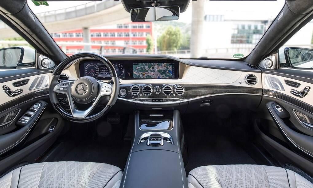 Салон Mercedes W222.