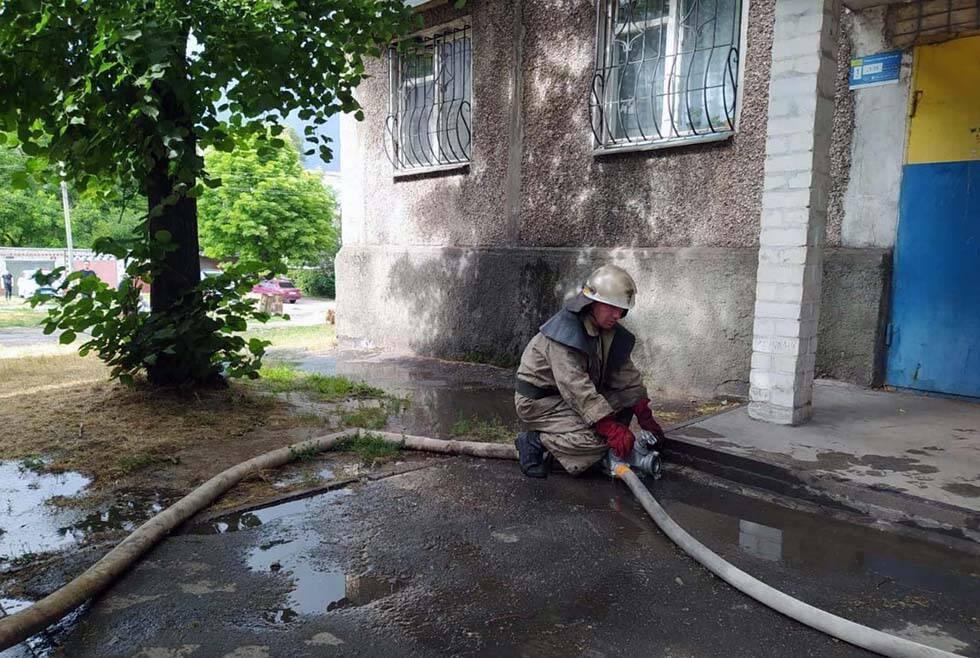 Пожежа під Дніпром