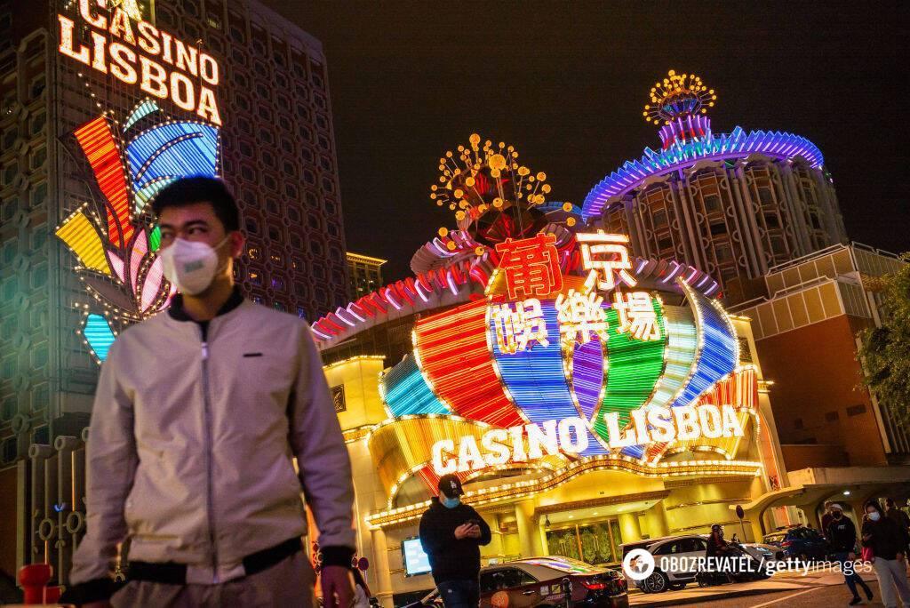 Казино китайского города Макао приносят около 80% всех доходов местного бюджета