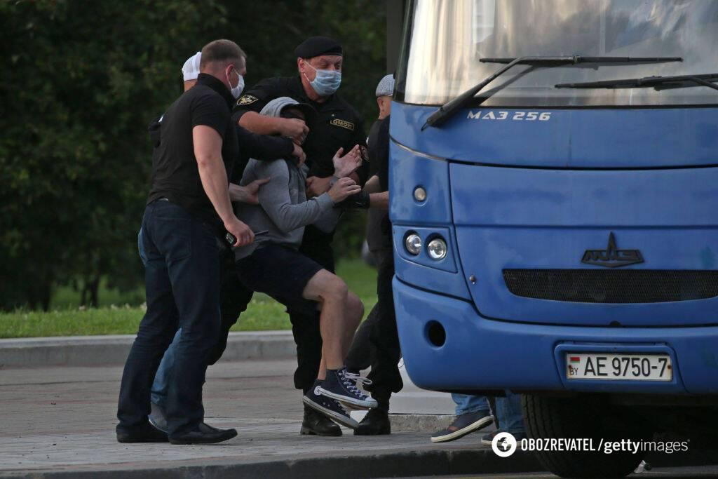 Задержания людей в Беларуси