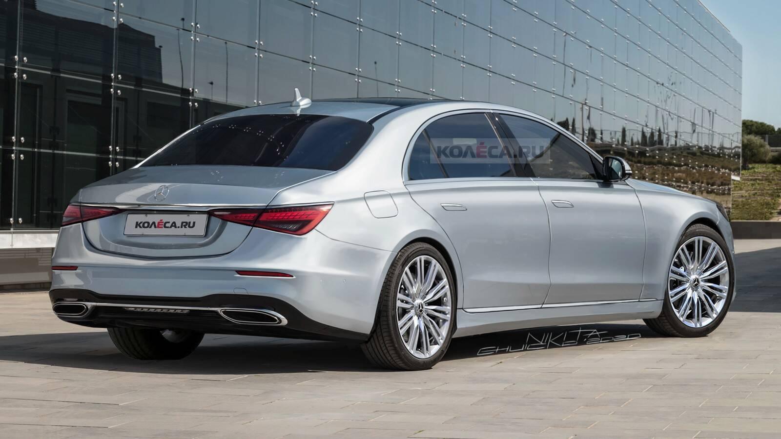 Дизайнер показав правдоподібну зовнішність Mercedes S-class W223.