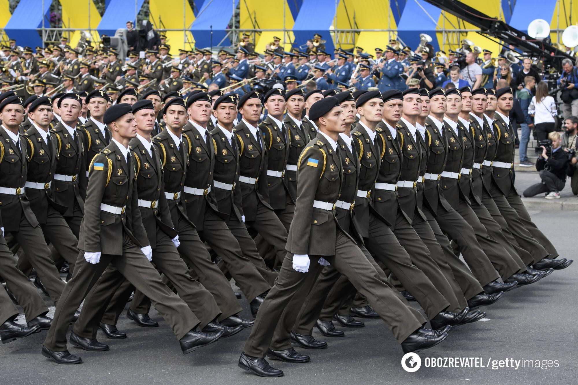 Военный парад на День Независимости Украины в 2017 году