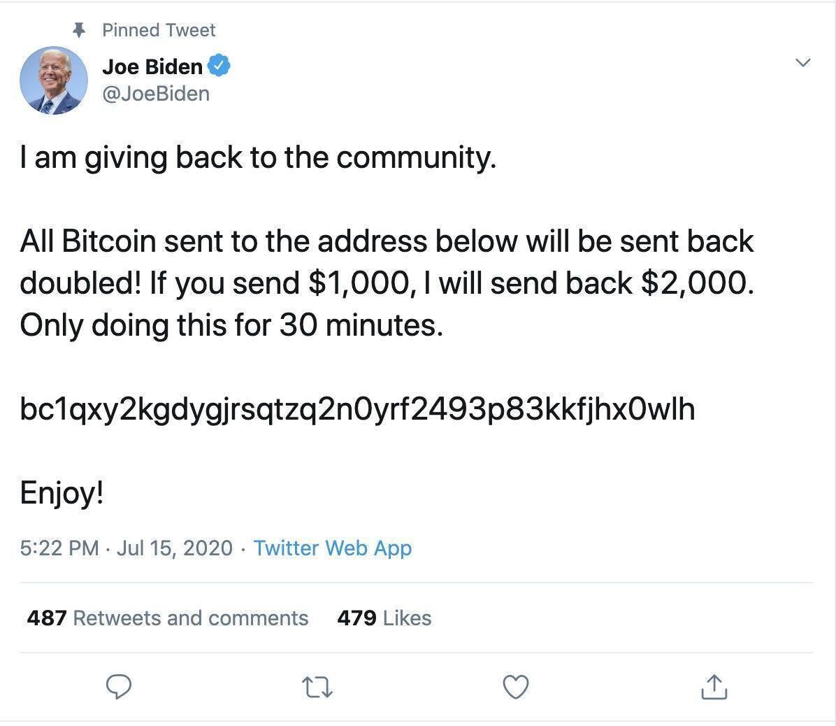 Хакери зламали акаунт Джо Байдена