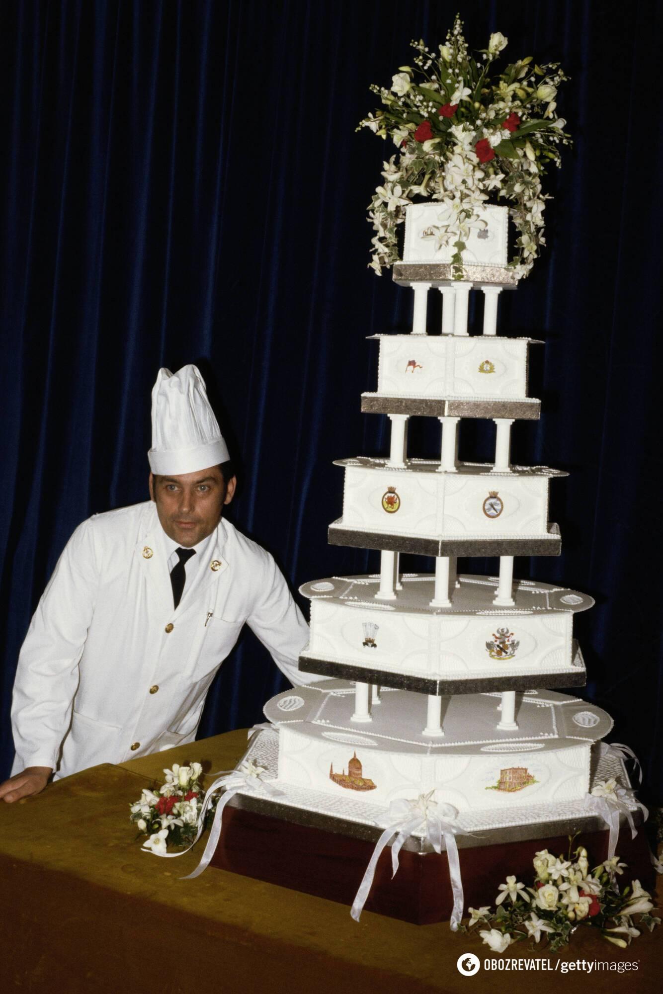 Девід Ейвері і його торт для весілля Діани і Чарльза