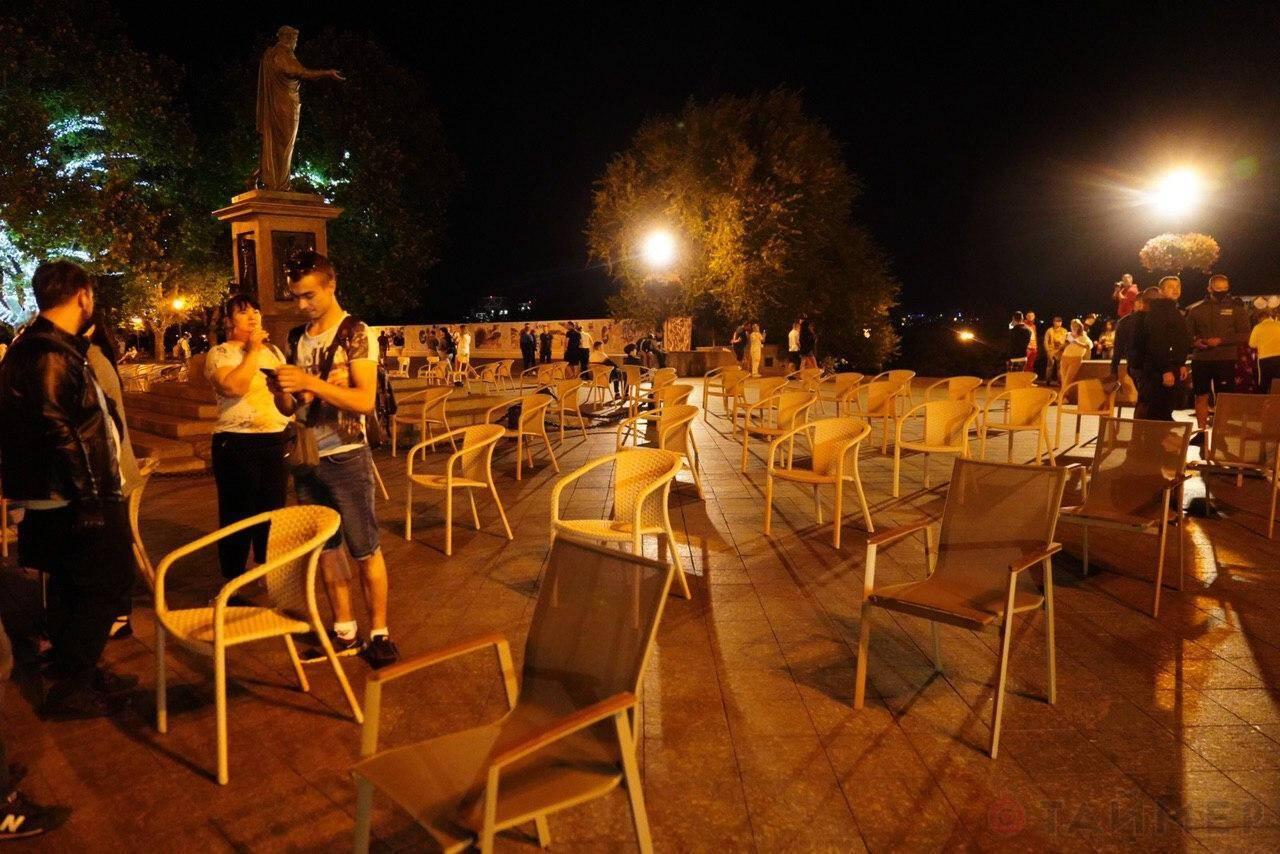 В Одессе прошел ночной митинг