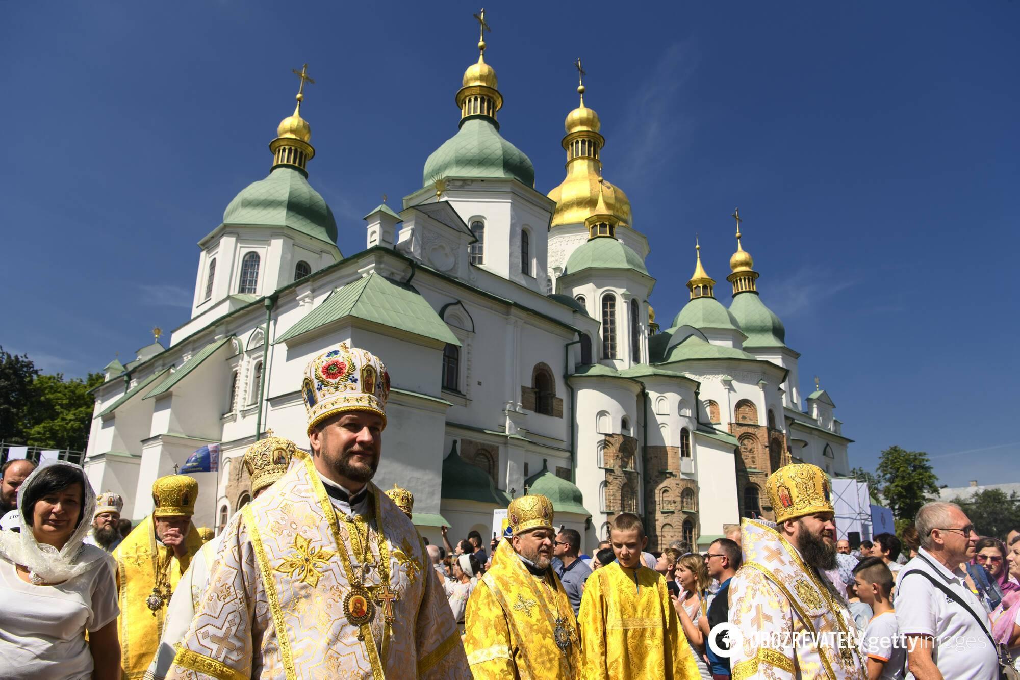 День Хрещення Київської Русі, хресний хід перед Софійським собором 28 липня 2019 року