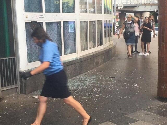 Взрыв в Киеве.