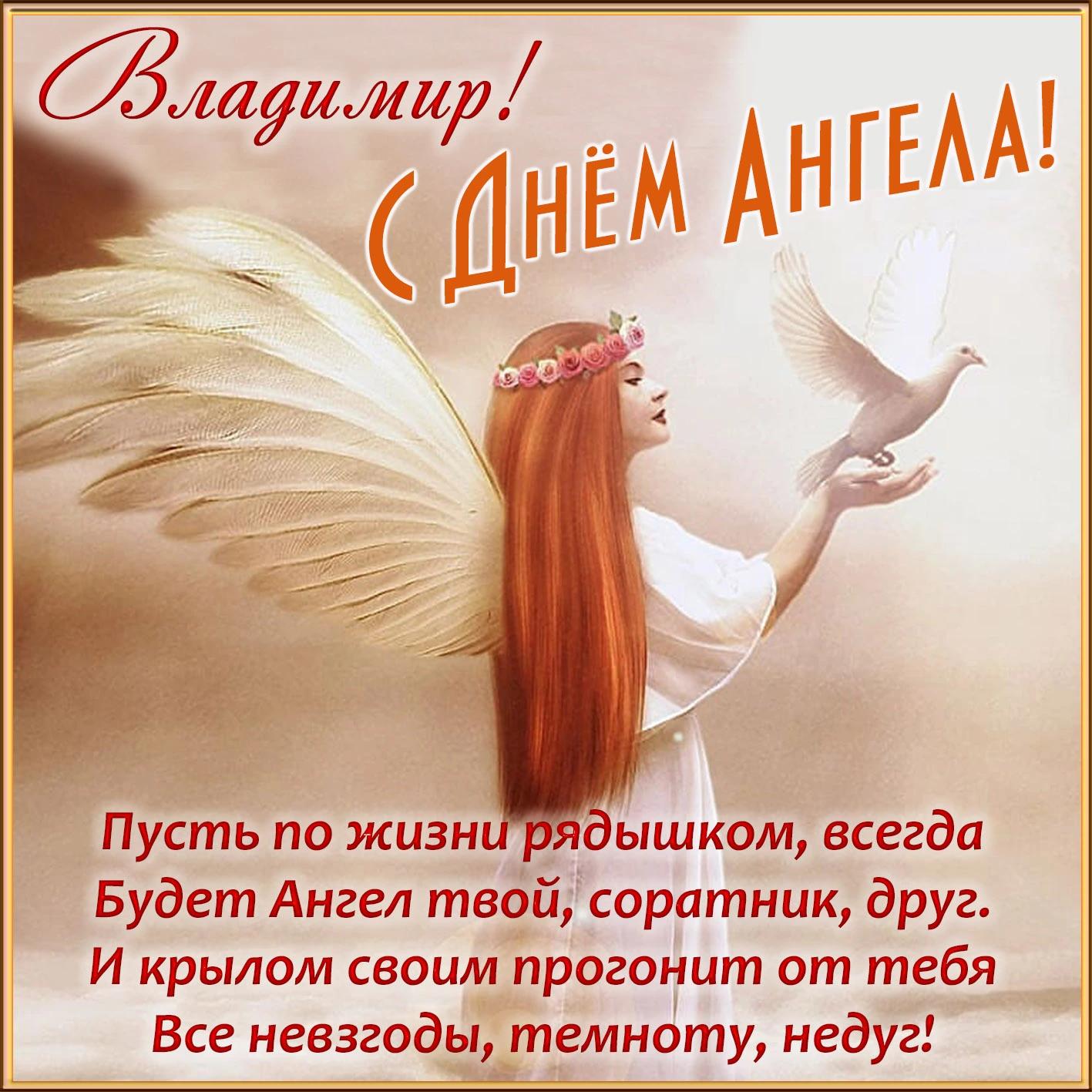 Открытка с пожеланиями в День ангела Владимира