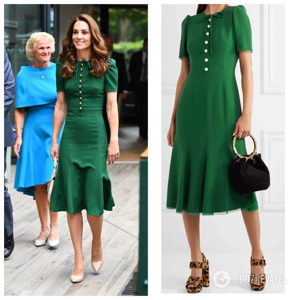 Кейт Миддлтон в зеленом платье Dolce & Gabbana