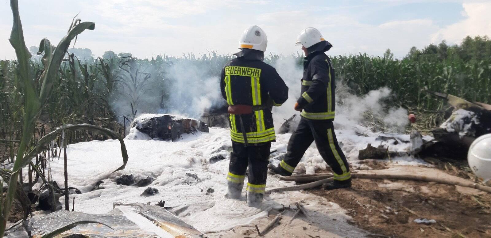 На Київщині впав і загорівся літак.