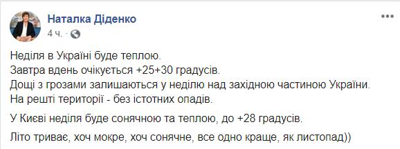 В Украину придёт жара до +30: свежий прогноз погоды