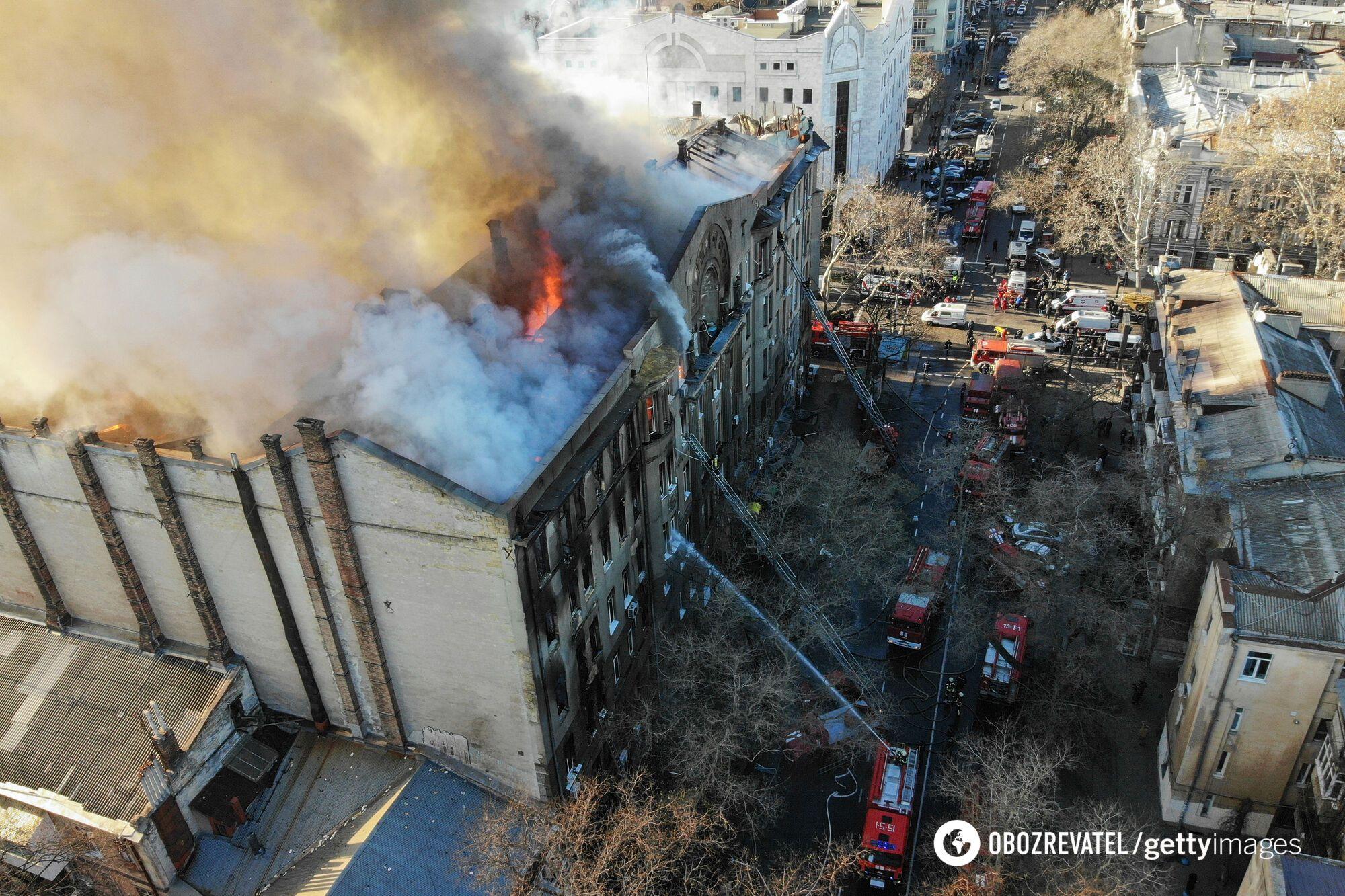 Пожар на Троицкой в Одессе