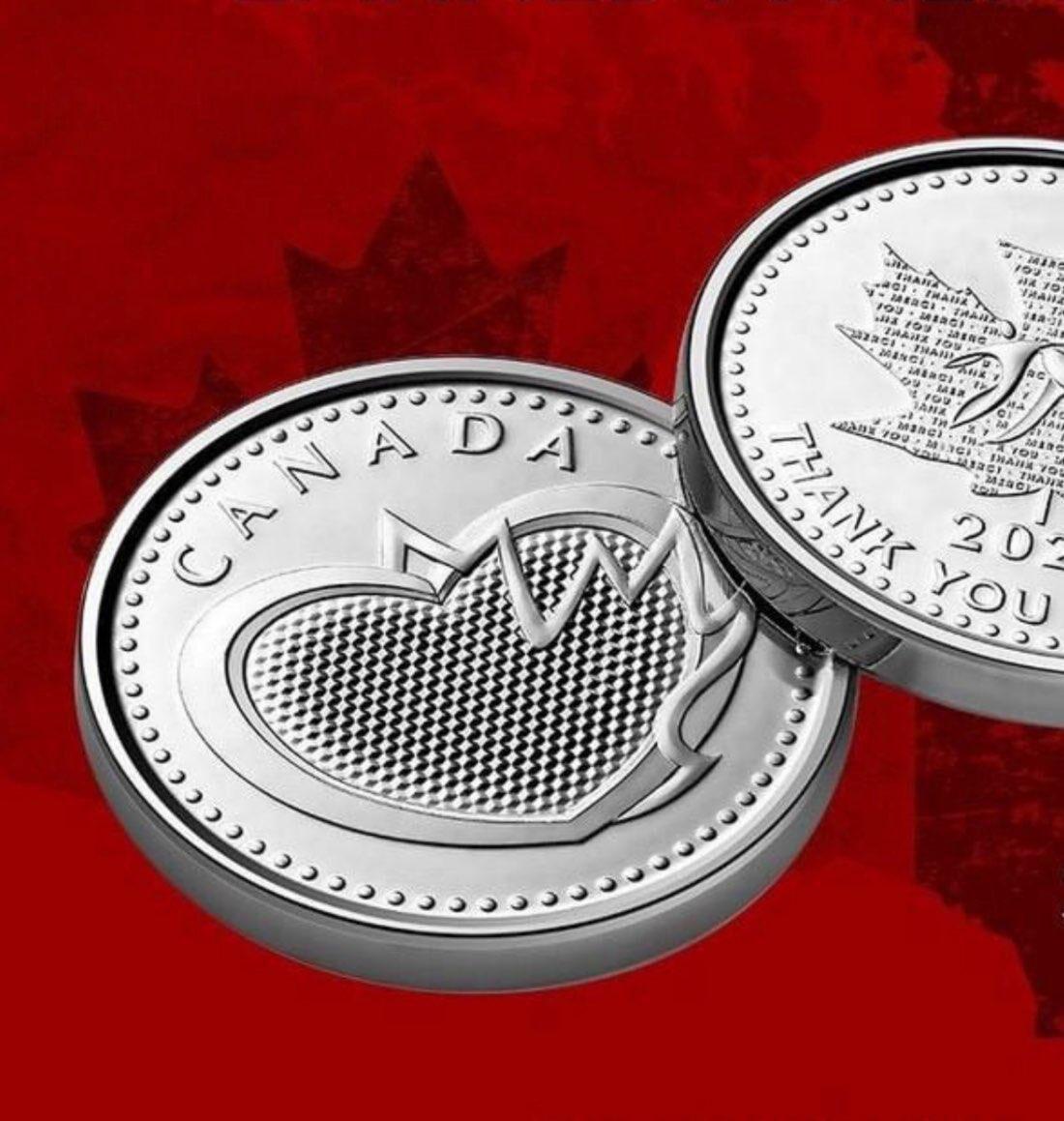 Канадська монета на честь медиків