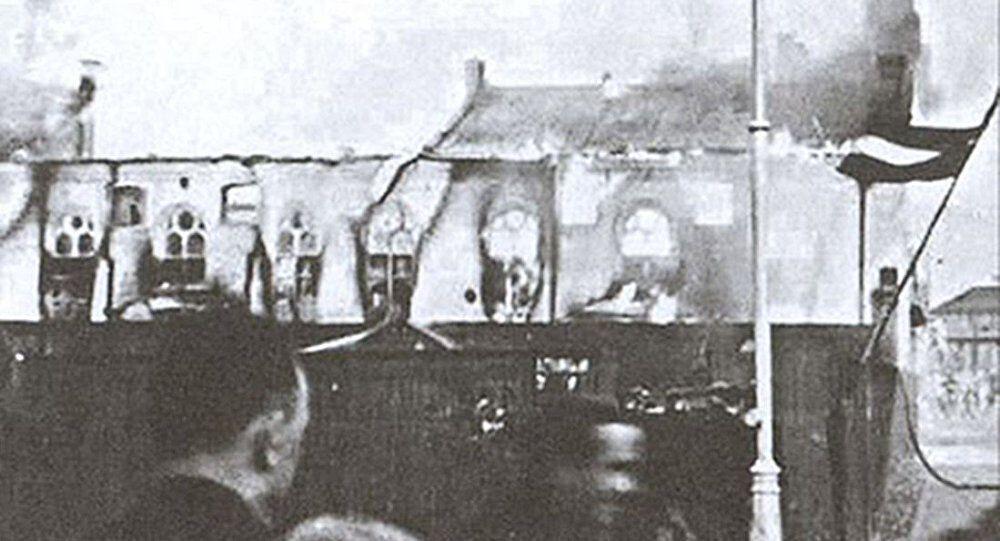 Горящая большая хоральная синагога, 4 июля 1941 года