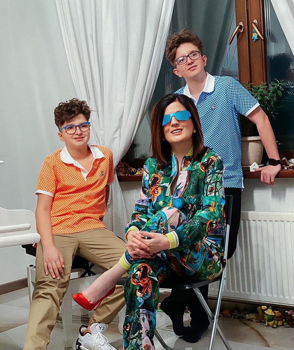 Гурцкая с сыновьями