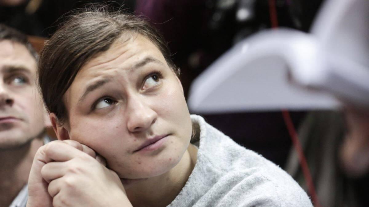 Яна Дугар на одном из судебных заседаний по делу об убийстве Шеремета