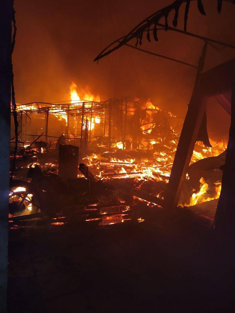 Пожар в Затоке начался около 4 утра