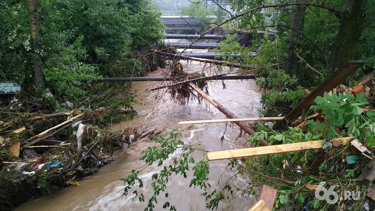 Вода затопила город Нижние Серги
