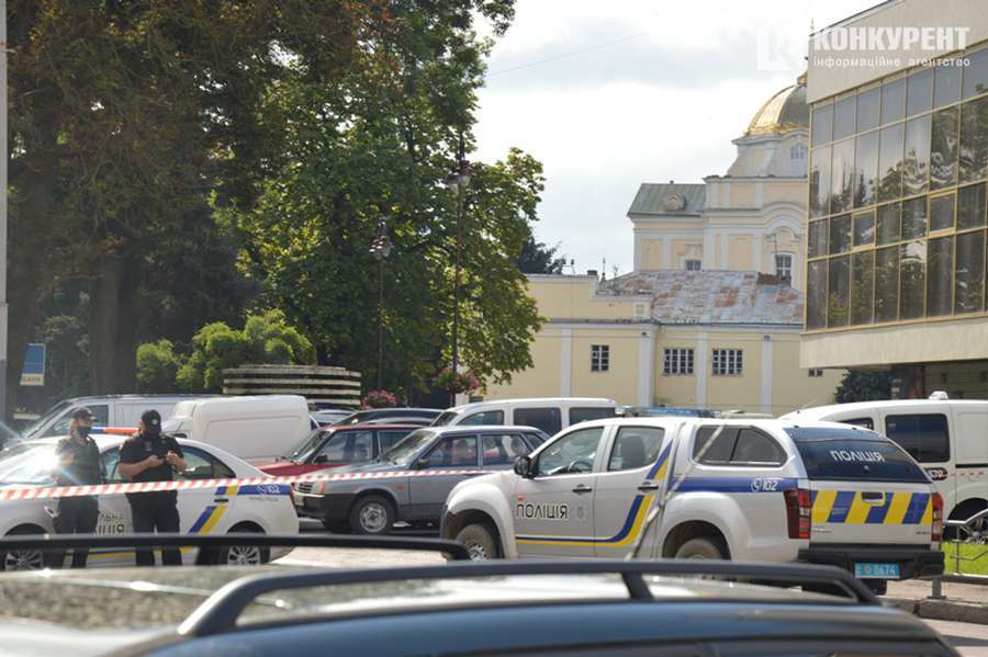 Полиция оградила место ЧП