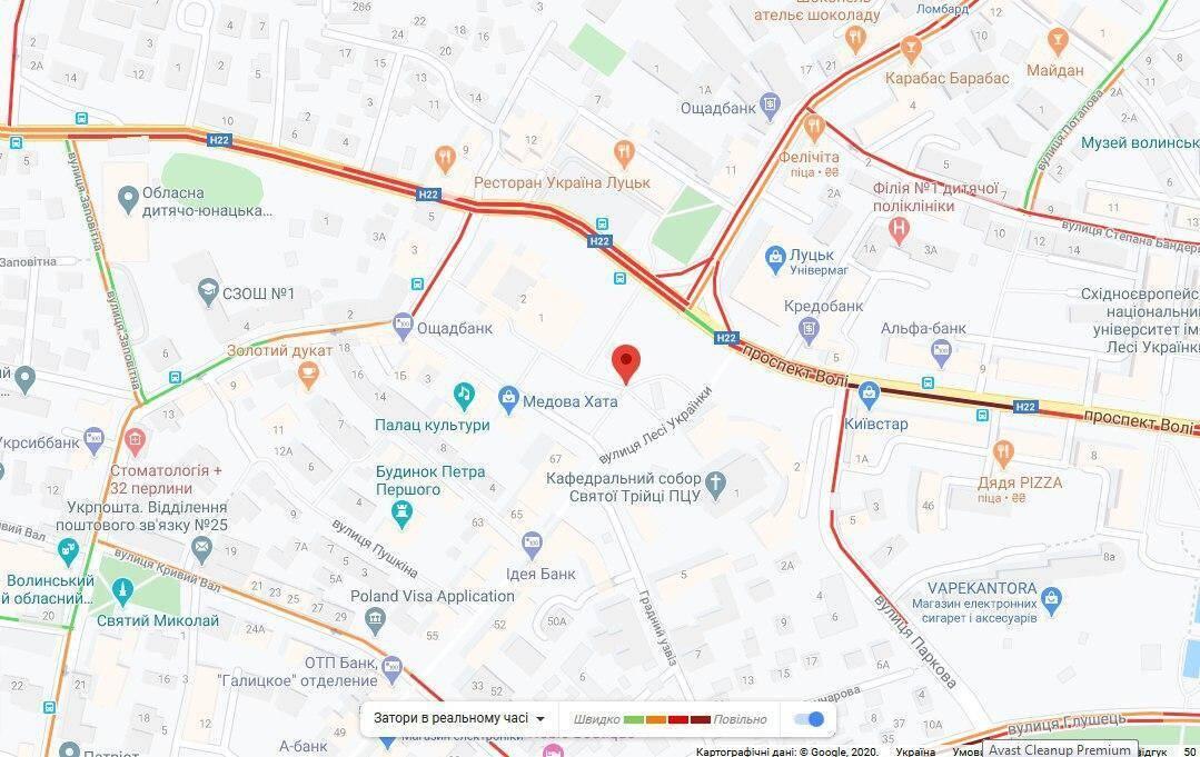 Движение в центре Луцка перекрыли