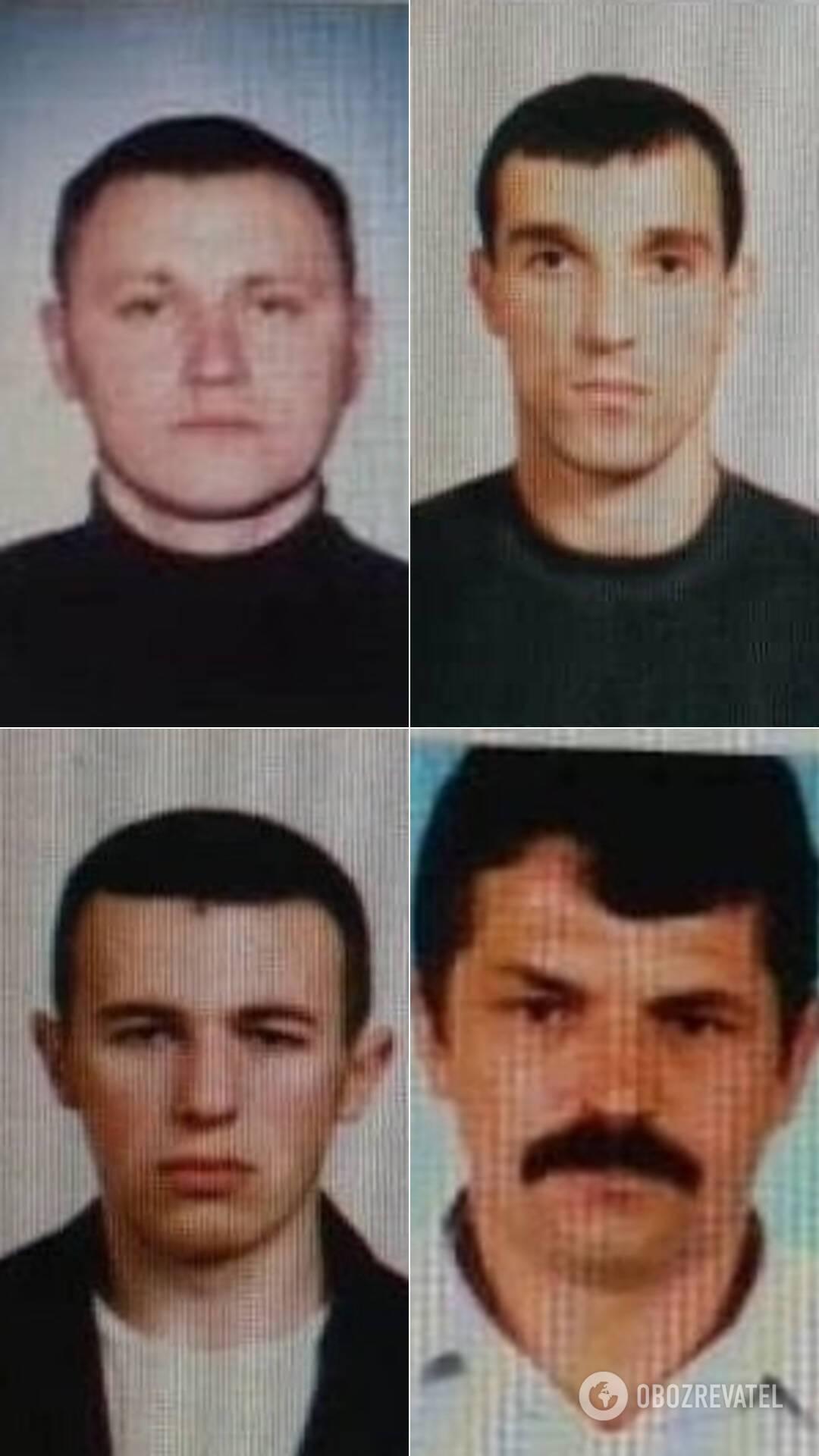 Члены банды Кривоша: Кревский, Смолий, Иванюк и Бугай