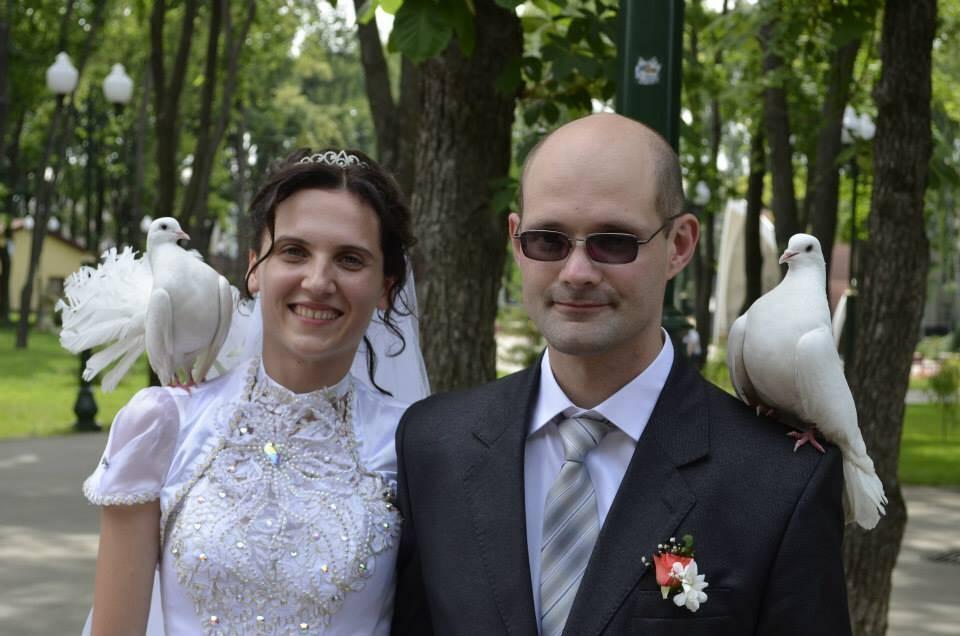 Олексій Кучапін із дружиною, квітень 2014 року.
