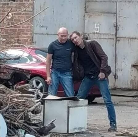 Роман Скрипник с заложником на месте ЧП в Полтаве