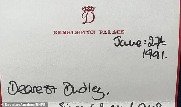 Письмо принцессы Дианы (1991 год)